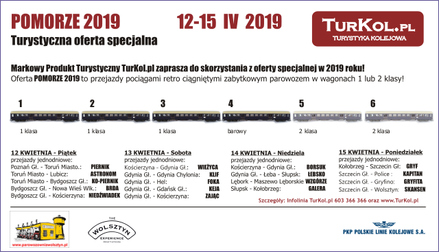 TurKol Oferta specjalna Pomorze 2019